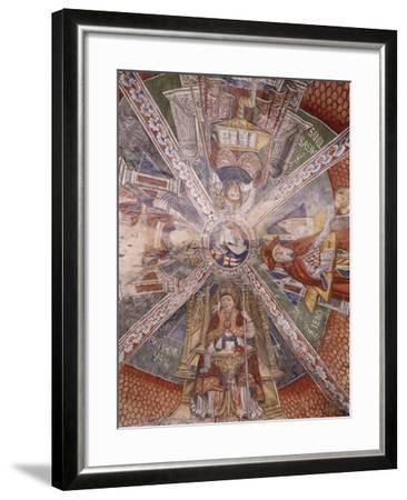 Doctors of Church, Fresco-Gaudenzio Ferrari-Framed Giclee Print