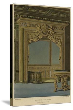 Alcove, Palais Du Louvre, Paris, 17th Century--Stretched Canvas Print