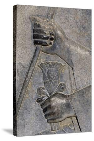 Bas-Relief from Treasure Room, Persepolis--Stretched Canvas Print