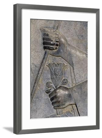 Bas-Relief from Treasure Room, Persepolis--Framed Photographic Print