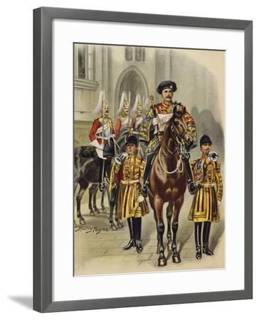 Proclaiming George V King of England, 1910-Henry Payne-Framed Giclee Print