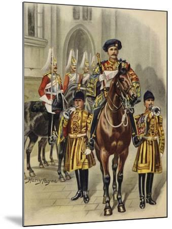 Proclaiming George V King of England, 1910-Henry Payne-Mounted Giclee Print