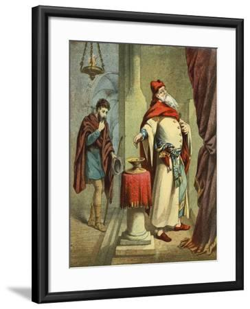 The Pharisee and the Publican--Framed Giclee Print