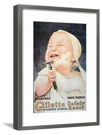 Advert for the Gillette Safety Razor, 1905--Framed Giclee Print