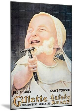 Advert for the Gillette Safety Razor, 1905--Mounted Giclee Print