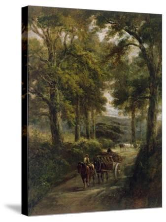 The Timber Wagon-Henry Earp-Stretched Canvas Print