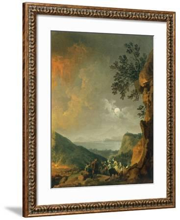 Eruption of Vesuvius-Pierre-Jacques Volaire-Framed Giclee Print