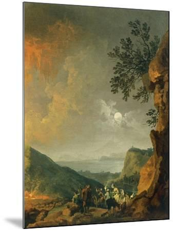 Eruption of Vesuvius-Pierre-Jacques Volaire-Mounted Giclee Print