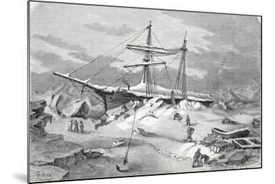 The 'Hansa' in Distress, Pub. London 1874--Mounted Giclee Print