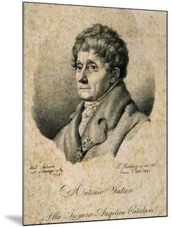 Portrait of Antonio Salieri--Mounted Giclee Print
