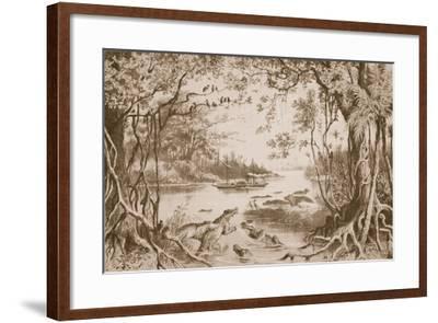 The Ma-Robert on the Zambesi-English School-Framed Giclee Print