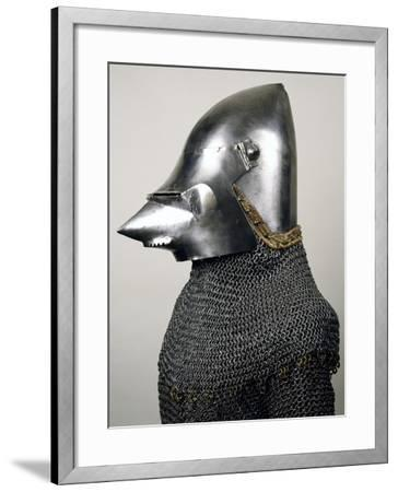 Bascinet with Pig Faced Snout--Framed Giclee Print