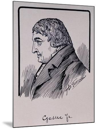 Portrait of Francois-Joseph Gossec--Mounted Giclee Print