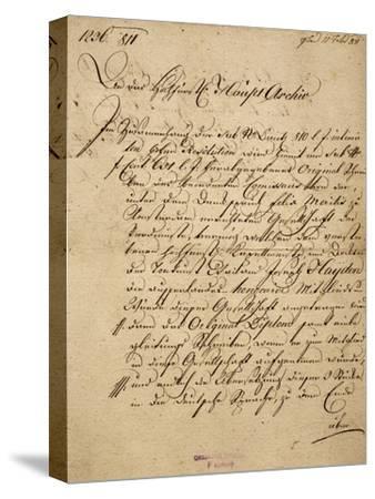 Franz Joseph Haydn's--Stretched Canvas Print