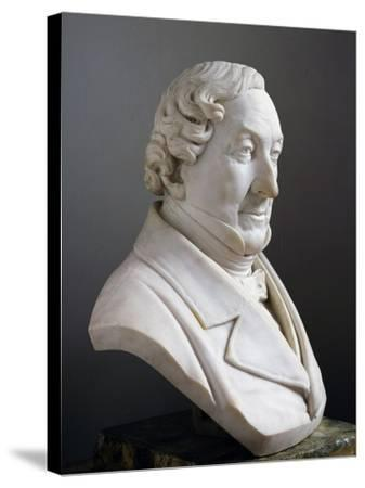 Marble Bust of Gioachino Rossini--Stretched Canvas Print
