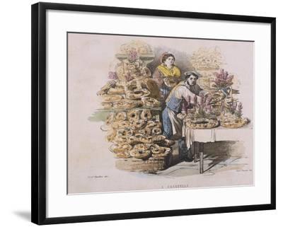 Preparation of Casatiello--Framed Giclee Print