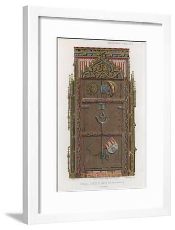 Door in the Town Hall of the Luneburg--Framed Giclee Print