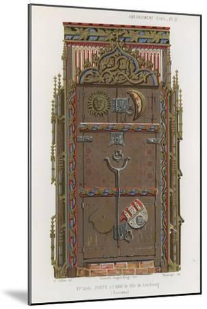 Door in the Town Hall of the Luneburg--Mounted Giclee Print