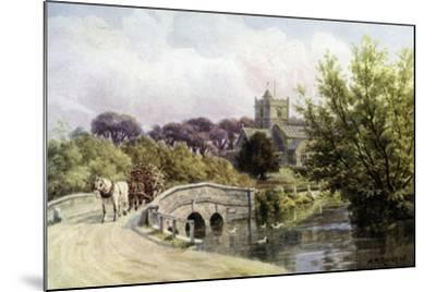 The Bridge, Coombe Bissett, Near Salisbury-Alfred Robert Quinton-Mounted Giclee Print