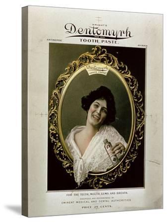 Advertisement for 'Wright's Dentomyrh Toothpaste'--Stretched Canvas Print