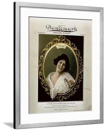 Advertisement for 'Wright's Dentomyrh Toothpaste'--Framed Giclee Print