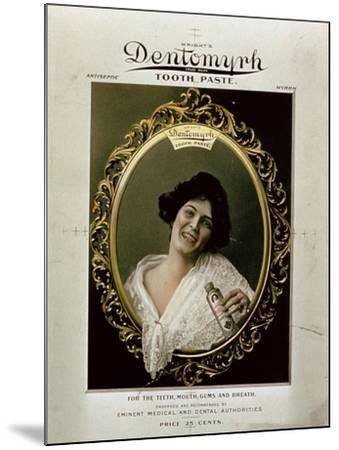 Advertisement for 'Wright's Dentomyrh Toothpaste'--Mounted Giclee Print