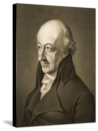 Portrait of Christoph Martin Wieland--Stretched Canvas Print