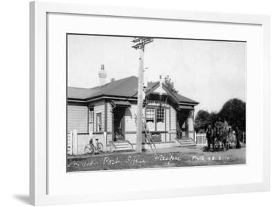 Waipu Post Office, 1910--Framed Photographic Print