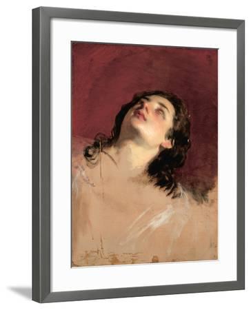Study of a Head of a Woman-Friedrich Von Amerling-Framed Giclee Print