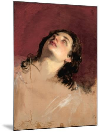 Study of a Head of a Woman-Friedrich Von Amerling-Mounted Giclee Print