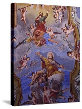 Vault Frescoes-Giuseppe Mattia Borgnis-Stretched Canvas Print