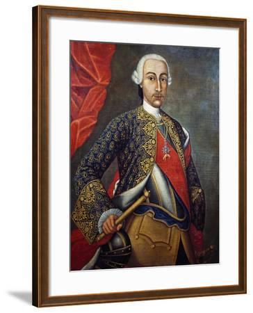 Portrait of Charles III of Bourbon--Framed Giclee Print