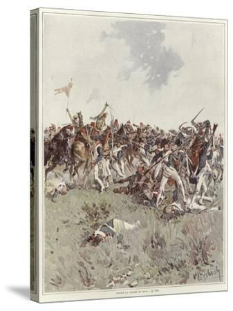 A Battle of the French Revolutionary War-Felicien Baron De Myrbach-rheinfeld-Stretched Canvas Print