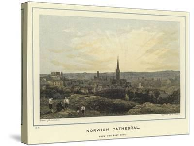 Norwich Cathedral, from the East Hill--Stretched Canvas Print
