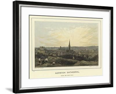 Norwich Cathedral, from the East Hill--Framed Giclee Print