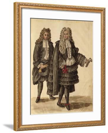 Noblemen Wearing Cappa--Framed Giclee Print