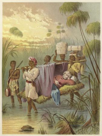 David Livingstone, the Last Mile--Framed Giclee Print
