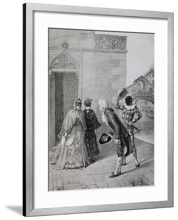 Scene from Comedy Liar-Carlo Goldoni-Framed Giclee Print