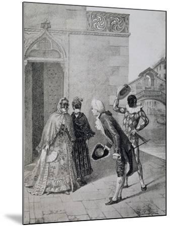 Scene from Comedy Liar-Carlo Goldoni-Mounted Giclee Print