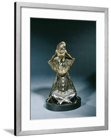 Pierrot and Colombine, C.1920-Pierre le Faguays-Framed Giclee Print