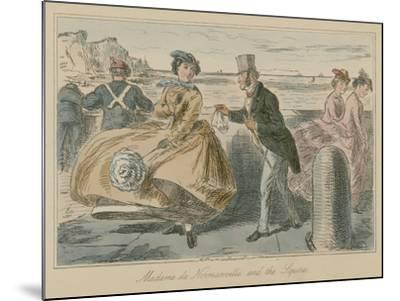 Madame De Normanville and the Squire-John Leech-Mounted Giclee Print