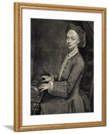 Portrait of Georg Friedrich Handel--Framed Giclee Print