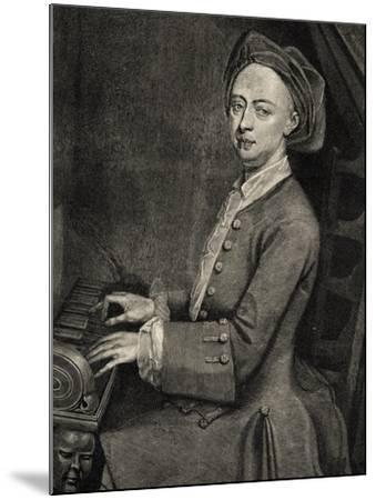 Portrait of Georg Friedrich Handel--Mounted Giclee Print