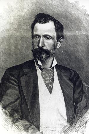 Portrait of Giuseppe Zanardelli--Stretched Canvas Print
