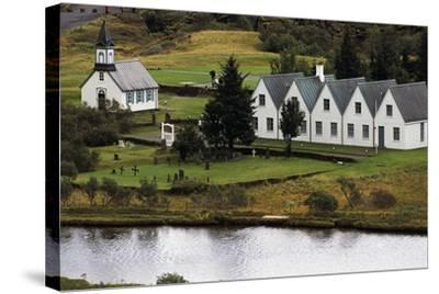Thingvallakirkja Church in Thingvellir--Stretched Canvas Print