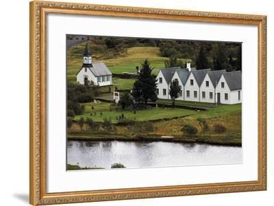 Thingvallakirkja Church in Thingvellir--Framed Giclee Print