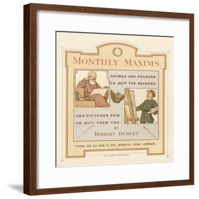 Title Page of Monthly Maxims-Robert Dudley-Framed Giclee Print