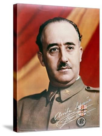 Official Portrait of General Francisco Franco--Stretched Canvas Print