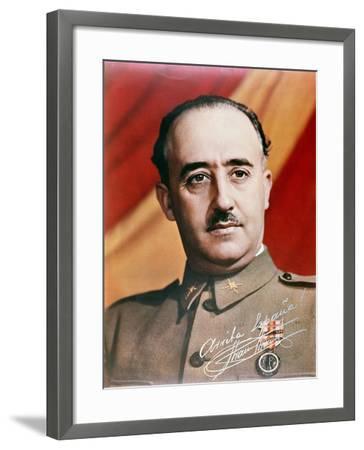 Official Portrait of General Francisco Franco--Framed Giclee Print