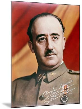 Official Portrait of General Francisco Franco--Mounted Giclee Print